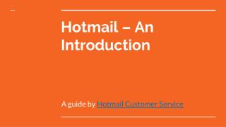 Hotmail – An Introduction and Its services