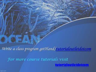 Write a class program getHand/tutorialoutletdotcom