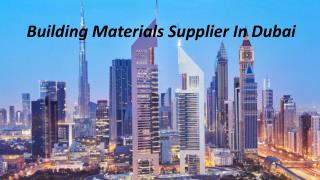 Building Materials Supplier In Dubai