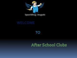 after school clubs including,
