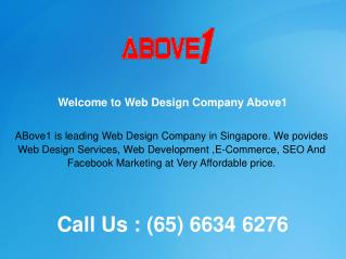 Affordable Web Design Company in Singapore- Above1