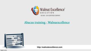 Abacus maths training by Walnutexcellence