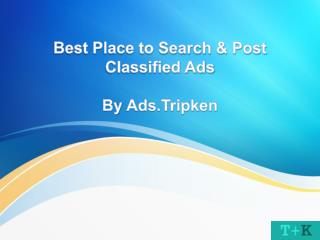Best Place to Search & Post Classified Ads