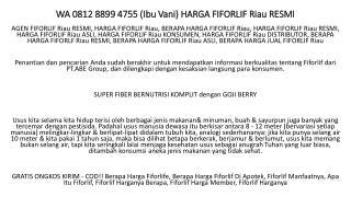 WA 0812 8899 4755 (Ibu Vani) BERAPA HARGA FIFORLF Riau RESMI