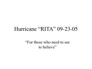 Hurricane  RITA  09-23-05