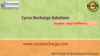 Get the online recharge software with Cyrus Recharge Solutions