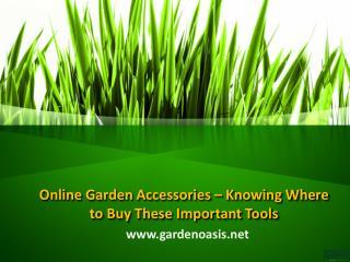 Outdoor Garden Accessories
