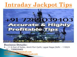 Intraday Jackpot Tips