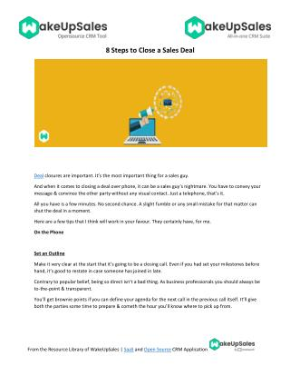 8 Steps to Close a Sales Deal