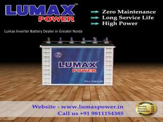 Lumax Inverter Battery Dealer in Greater Noida