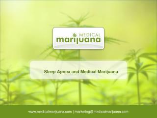 Sleep Apnea and Medical Marijuana