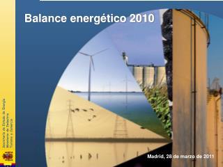 Balance energ tico 2010