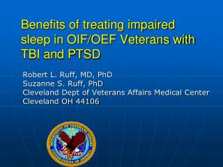 Benefits of treating impaired sleep in OIF