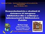Bibliotekat Publike   Qendra t  R nd sishme t  Komunikimit dhe Informacionit Berat, 12 N ntor, 2010