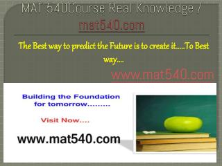 MGT 460Course Real Knowledge / mgt460.com