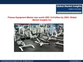 Fitness Equipment Market share worth $13.5bn by 2023