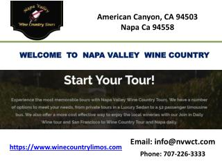Napa and sonoma valley wine tour