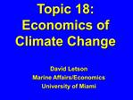 Topic 18: Economics of Climate Change