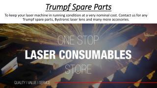 Trumpf Spare Parts - bendingandlaser.co.za
