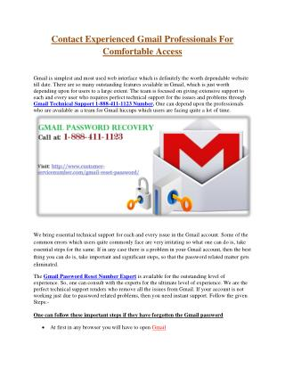 Gmail Customer Service Telephone Number