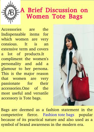 A Brief Discussion on Women Tote Bags