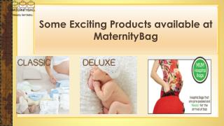 Some exciting products available at MaternityBag