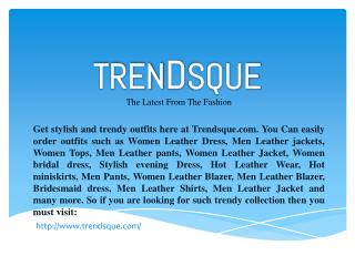 TrendsQue.com The Popular Online Fashion Store