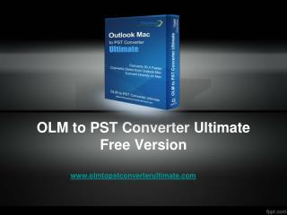 Download Free OLM to PST Converter Tool