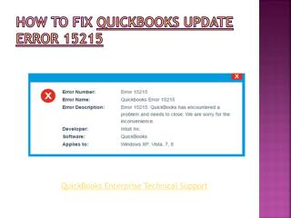 QuickBooks update error 15215