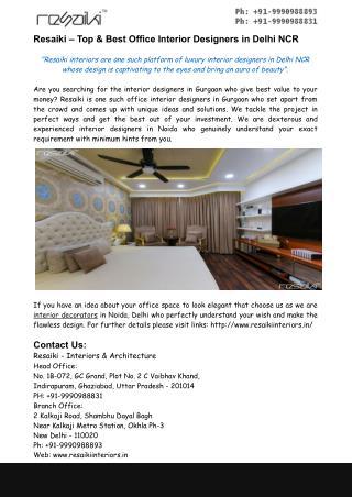 Interior Designers In Noida – Best Designers in Delhi NCR