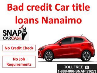 Bad credit car loans Nanaimo