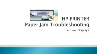 HP Printer Troubleshooting for Paperjam Error