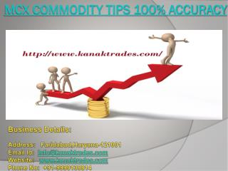 MCX Commodity Tips 100% Accuracy