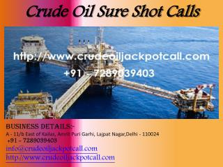 Crude Oil Sure Shot Calls