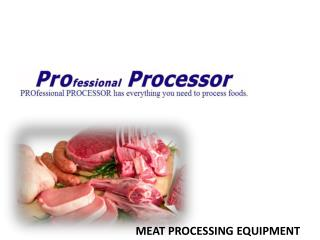 Shop Meat Processing Products