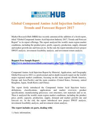 Global Compound Amino Acid Injection Industry Trends and Forecast Report 2017