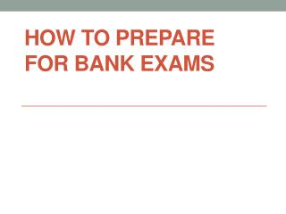how to crack bank exam