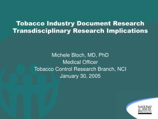 Tobacco Industry Document Research Transdisciplinary Research Implications