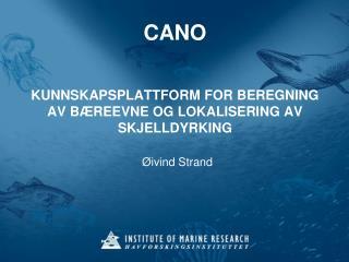 CANO   KUNNSKAPSPLATTFORM FOR BEREGNING AV B REEVNE OG LOKALISERING AV SKJELLDYRKING