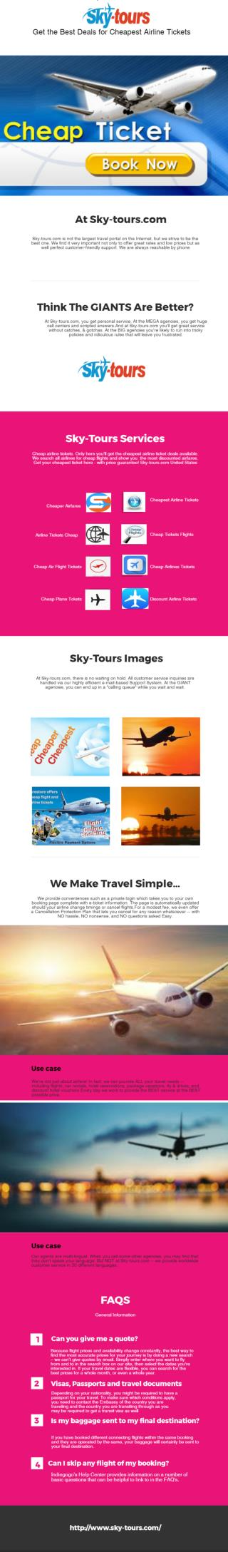 Get the Best Deals for Cheapest Airline Tickets
