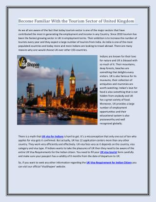 Become Familiar With the Tourism Sector of United Kingdom