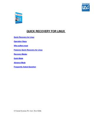 Unistal Linux Data Recovery Software- White Paper