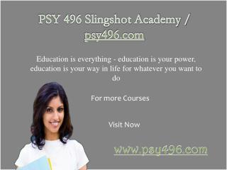 PSY 496 Slingshot Academy / psy496.com