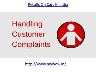 Who is  the best recalls on cars in India