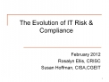 The Evolution of IT Risk  Compliance