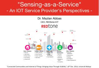 Sensing-as-a-Service - An IoT Service Provider's Perspectives