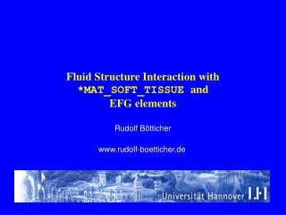 Fluid Structure Interaction with MAT_SOFT_TISSUE and  EFG elements