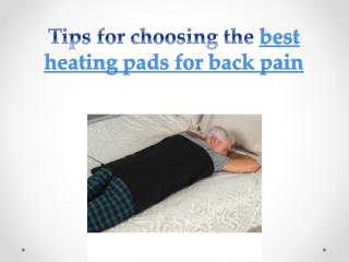 Tips for choosing the best heating pads for back pain