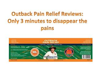 Outback-Pain-Relief-Reviews