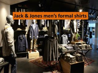 Jack & Jones men's formal shirts